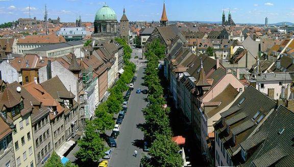 Nuremberg: vista general del centro